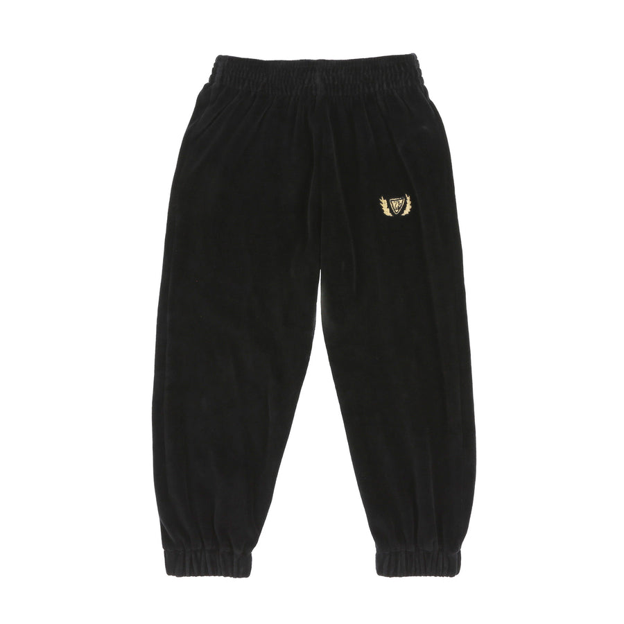 CREST VELOUR SWEATPANTS - INK
