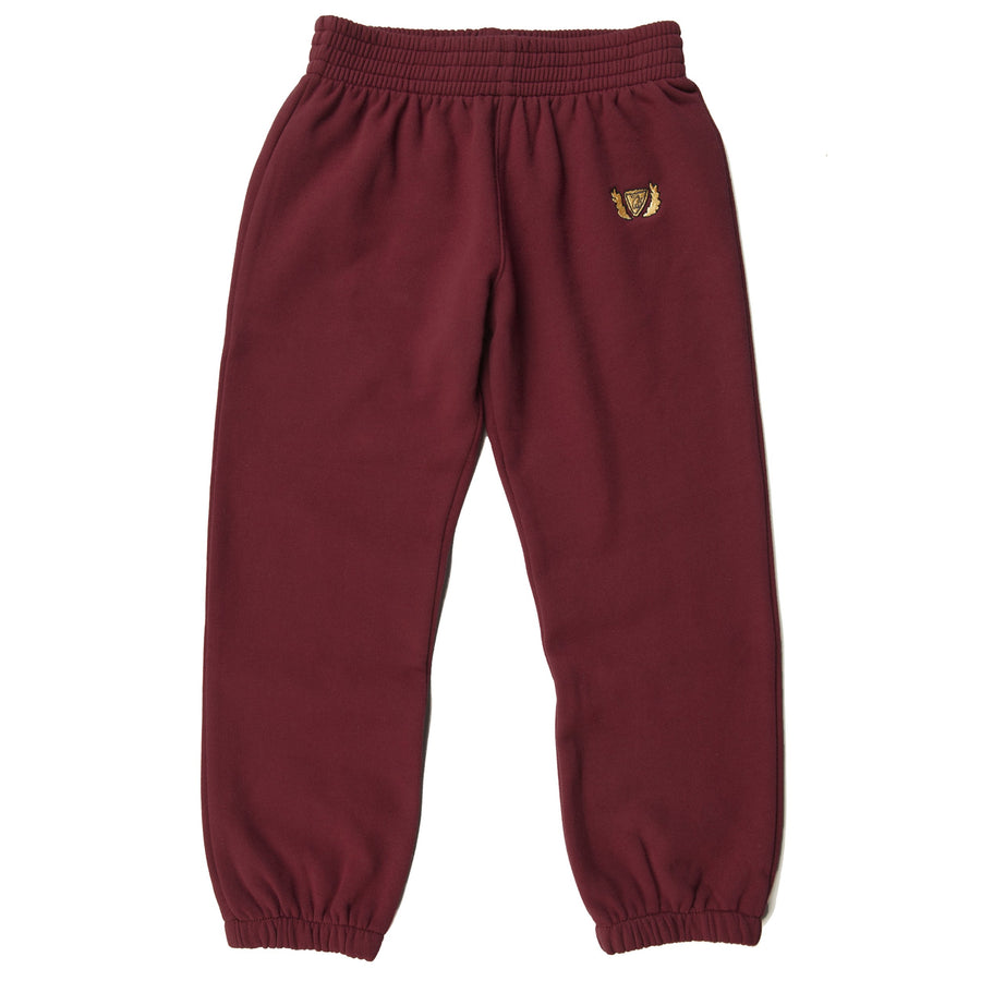 CREST FLEECE SWEATPANT - RUBY