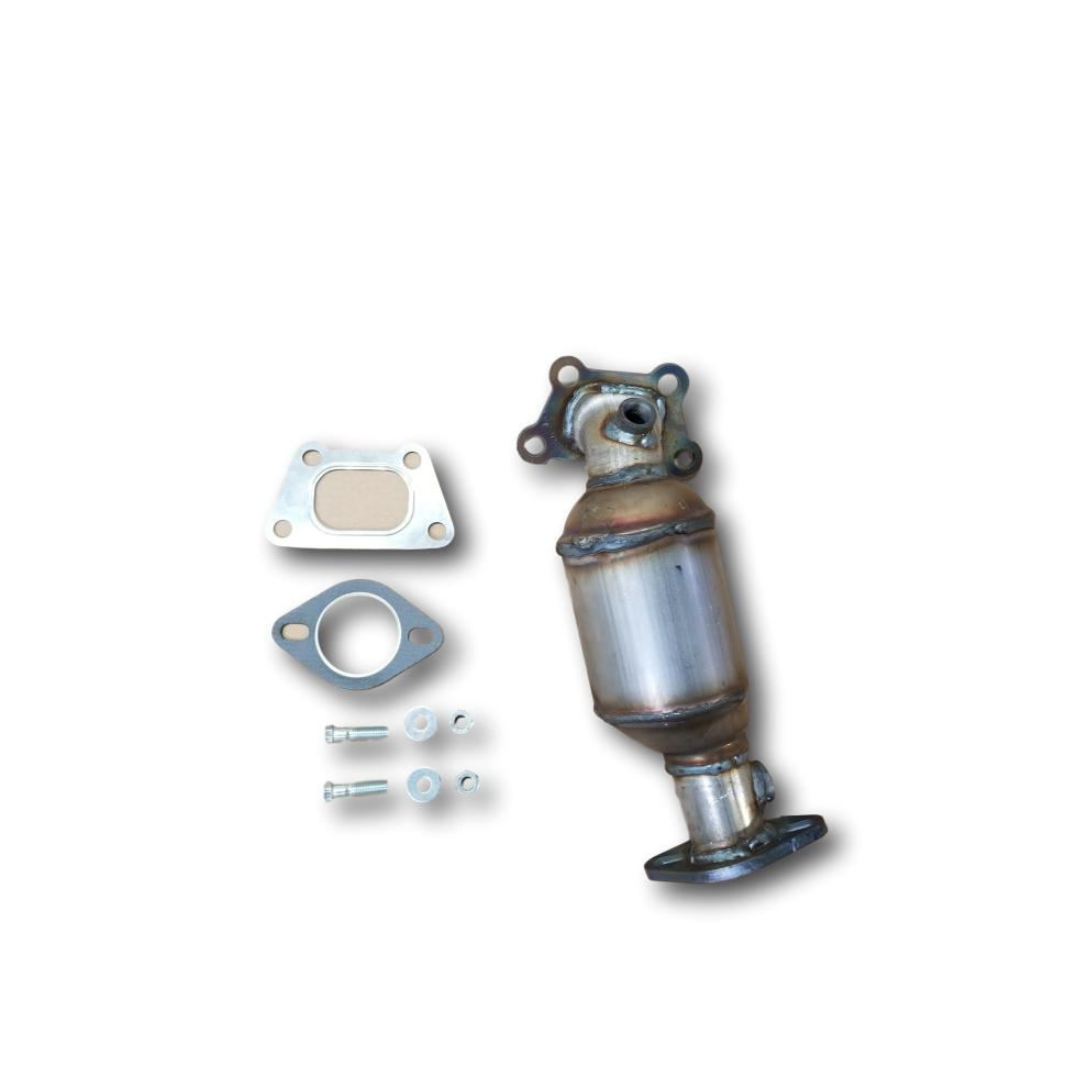 Full view of gaskets and hardware for 2010-2011 Cadillac SRX 3.0L V6 Bank 1 Catalytic Converter