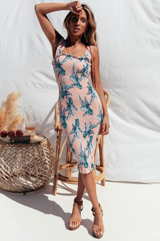 TINA MIDI DRESS ~ PINK - Always the Sun Boutique