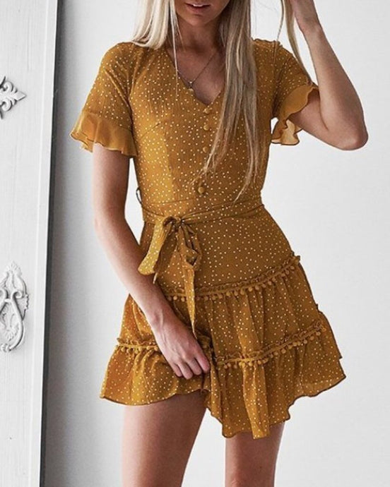 MALIBU DRESS - MUSTARD - Always the Sun Boutique