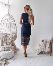 SCARLETT DRESS - NAVY - Always the Sun Boutique