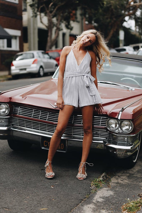 MOONCHILD PLAYSUIT || SILVER - Always the Sun Boutique