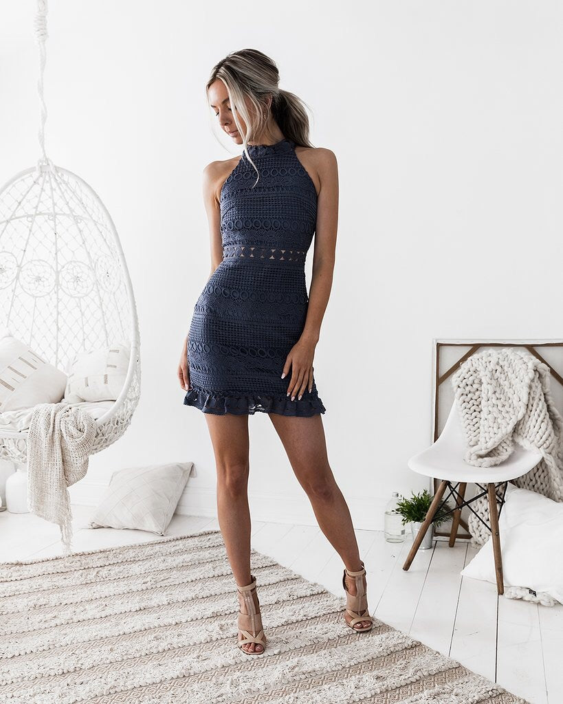 RIVERS DRESS || STEEL BLUE - Always the Sun Boutique