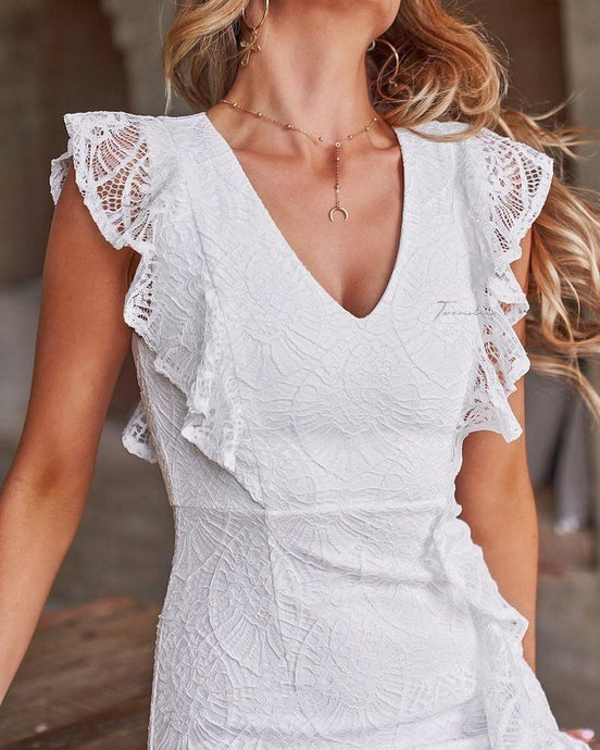 GRACIE DRESS ~ WHITE - Always the Sun Boutique