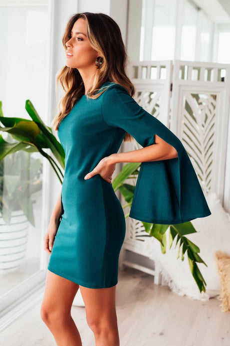 PASCAL DRESS || GREEN - Always the Sun Boutique