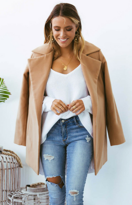 HARLEM SHORT COAT || CAMEL - Always the Sun Boutique
