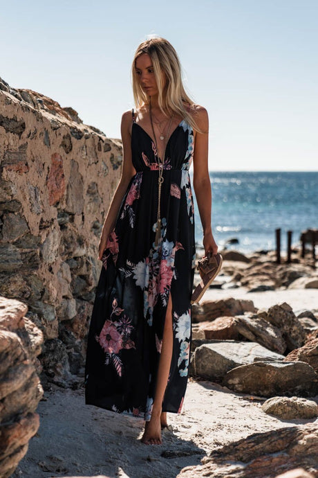 DAYA FLORAL MAXI DRESS - Always the Sun Boutique