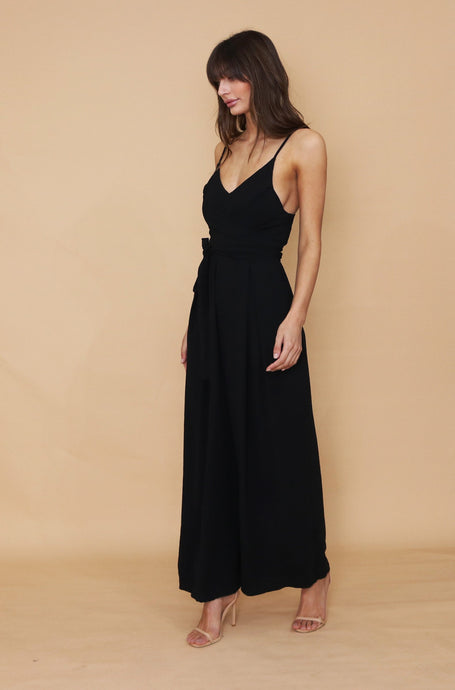 FLORENCE JUMPSUIT- BLACK - Always the Sun Boutique