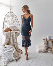 ESTELLE DRESS - STEEL BLUE - Always the Sun Boutique