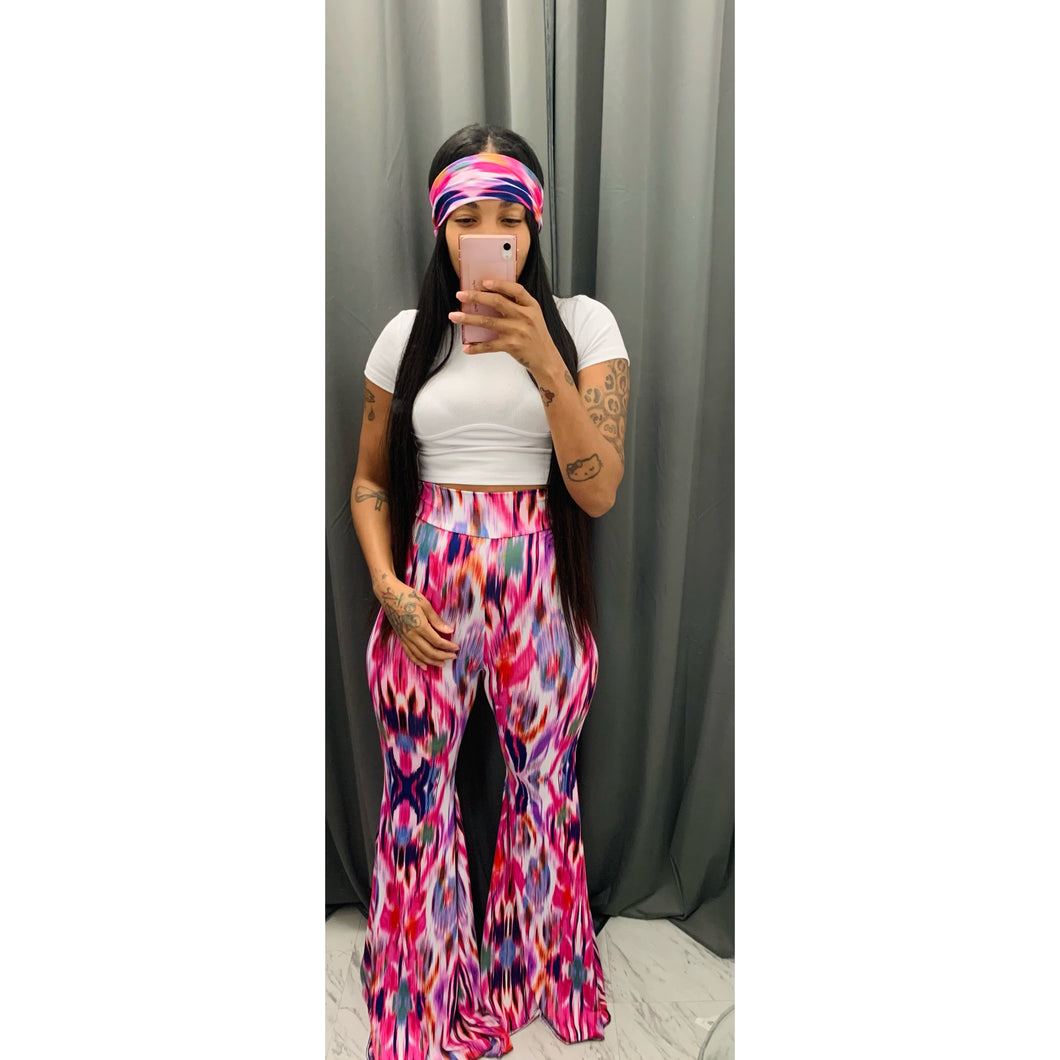 Pink vanny petal pants and head band