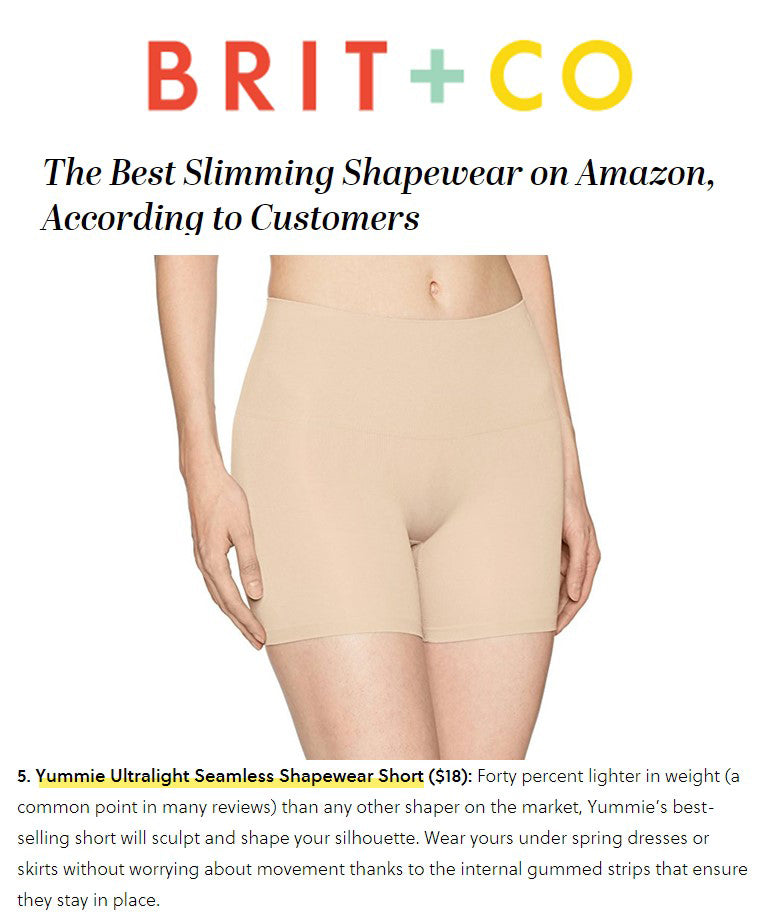 Brit + Co notes Yummie shapewear among the best on Amazon.