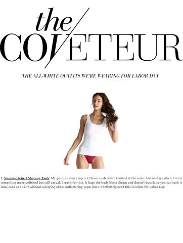 Coveteur.com highlights Yummie's 6-in-1 tank.