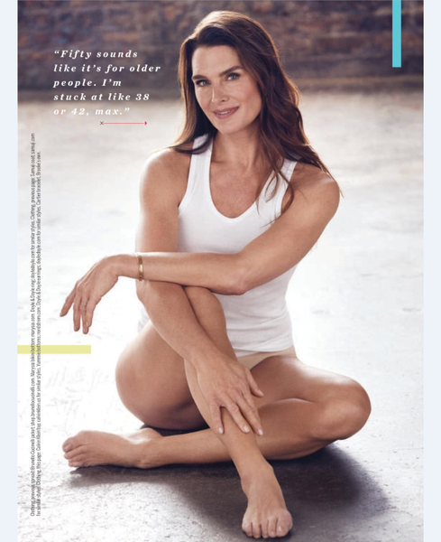 Brooke Shields in Yummie shaping tank