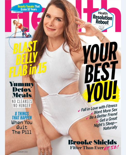 Brooke Shields on the cover of health magazine