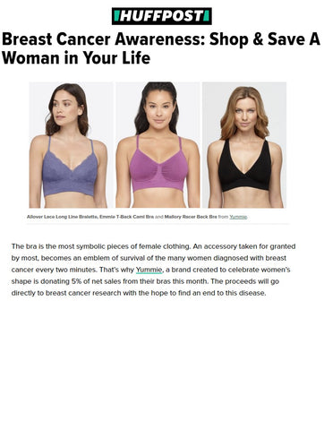Yummie Bras shown in Huffington Post.