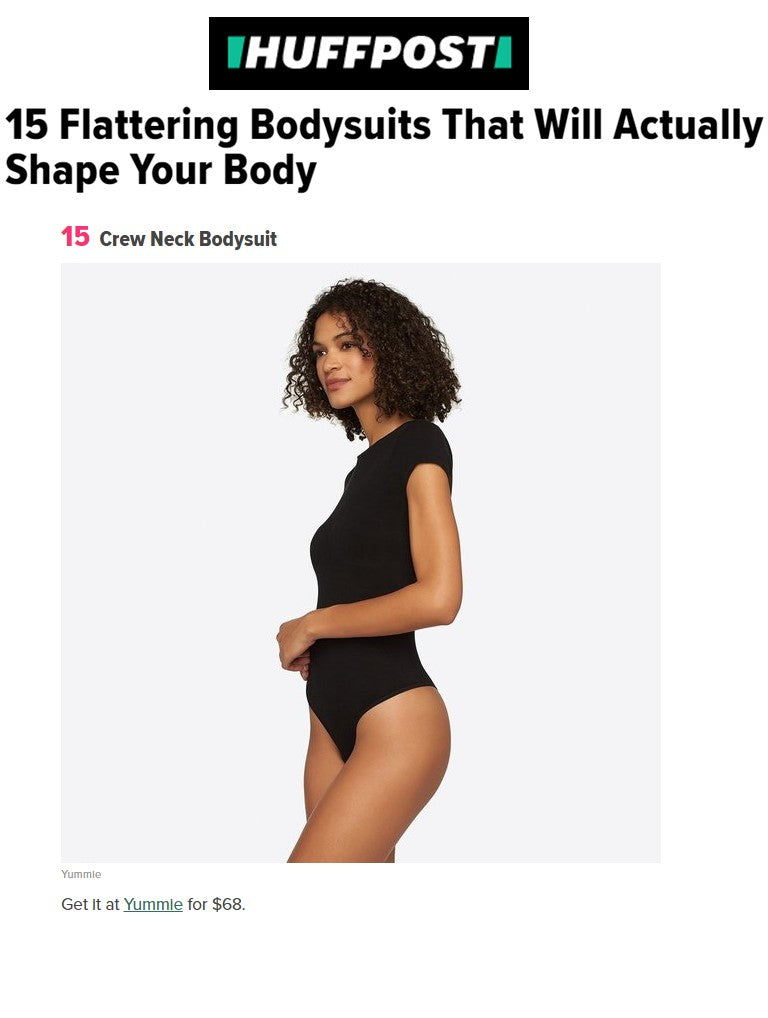 Huffington Post recommends Yummie's Crew Neck Bodysuit.