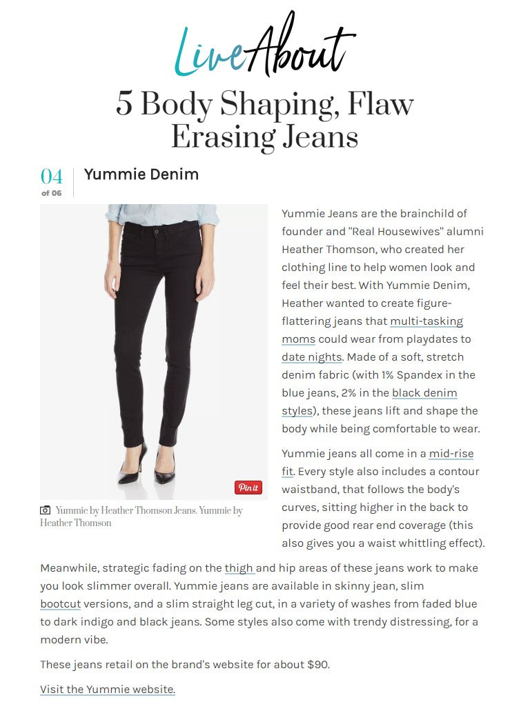 LiveAbout discussed Yummie's Denim in their June story.