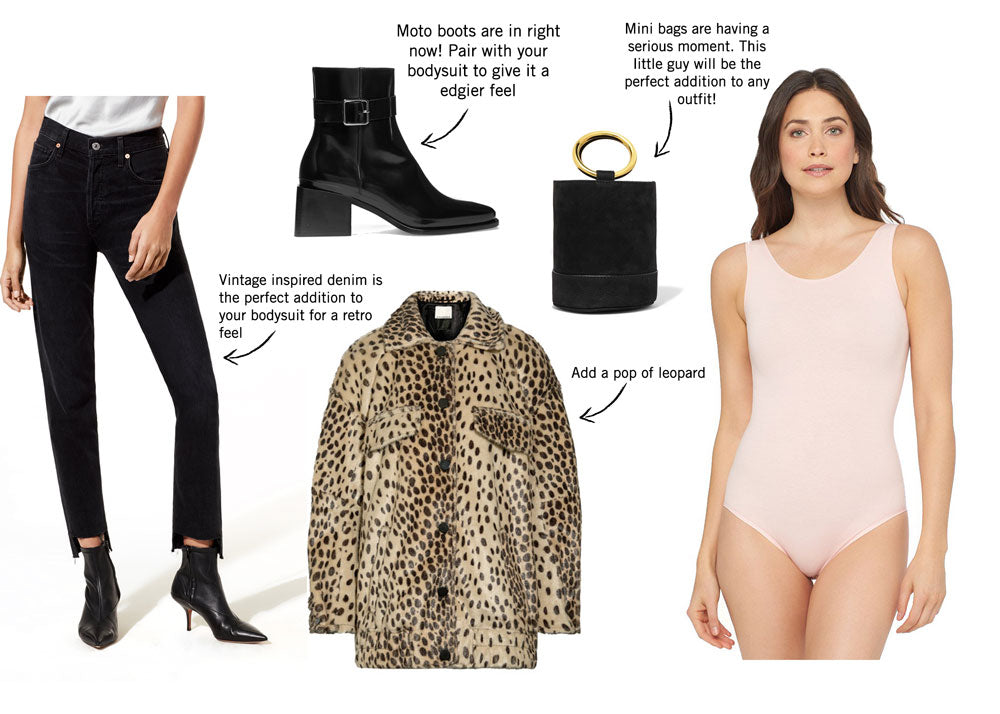 Mix and match with the Long Sleeve Bodysuit for a great fasion-forward look.