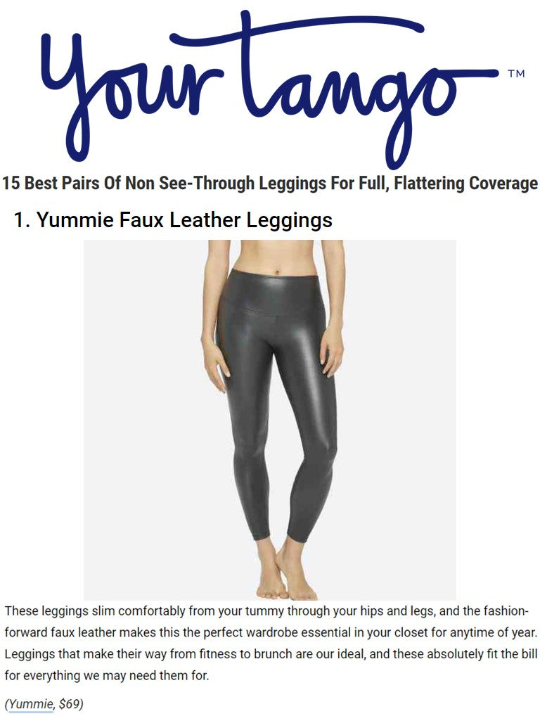 Yummie's Tony Faux Leather Leggings shown on Your Tango.