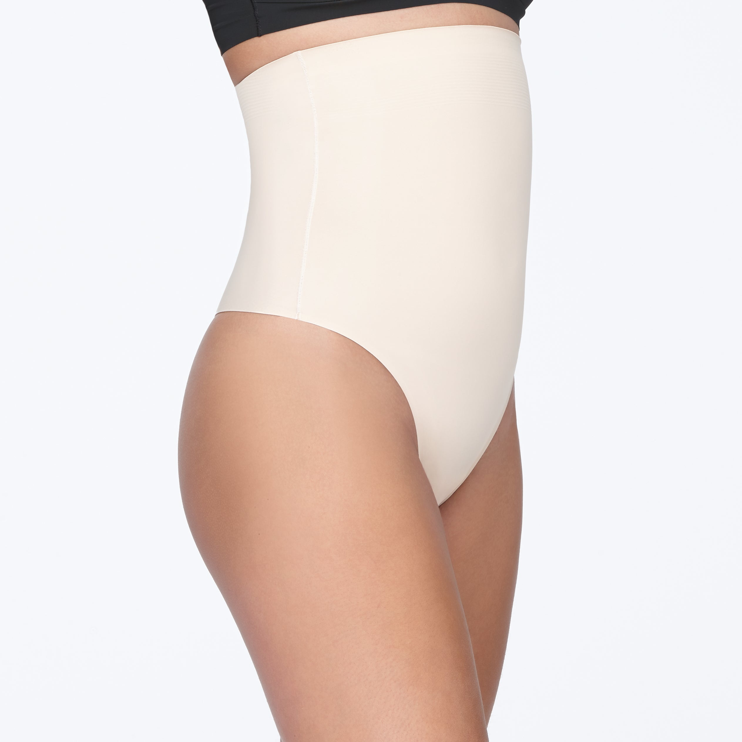 Brill High Waist Thong - YT2-228 - Nude - Side 1