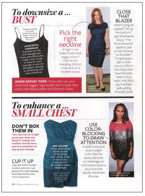 InStyle Magazine featuring a Yummie camisole product