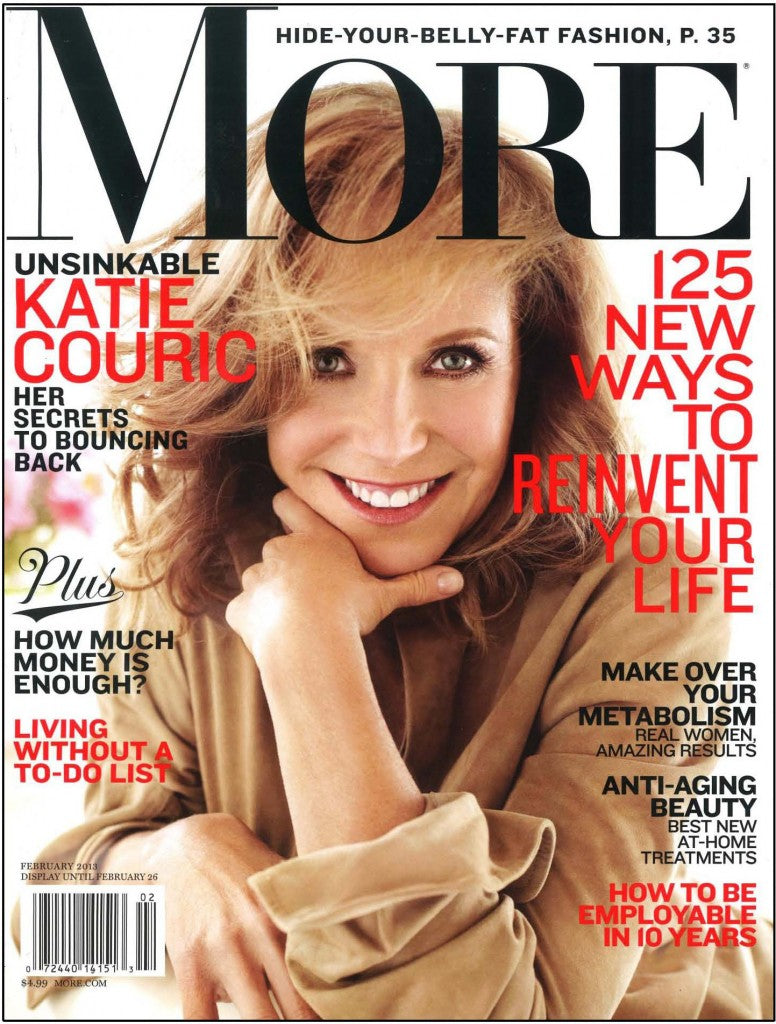 Katie Couric on the cover of MORE Magazine.