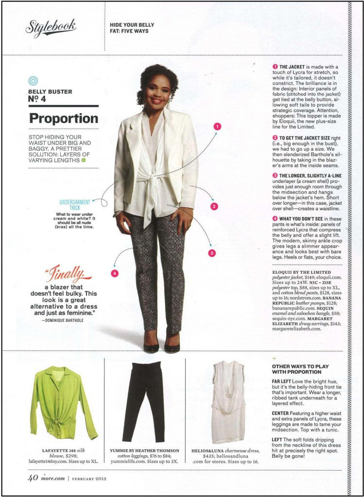 MORE Magazine shows how to carve out with Yummie shapewear.