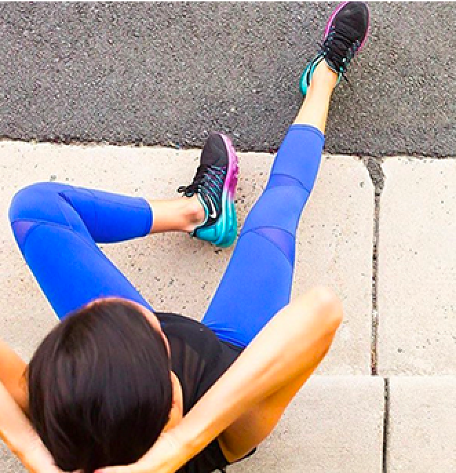 Leah Active Capri Leggings In Dazzling Blue