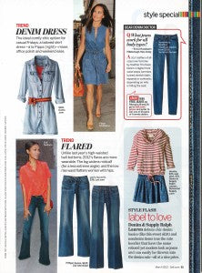Self Magazine features Yummie denim products.