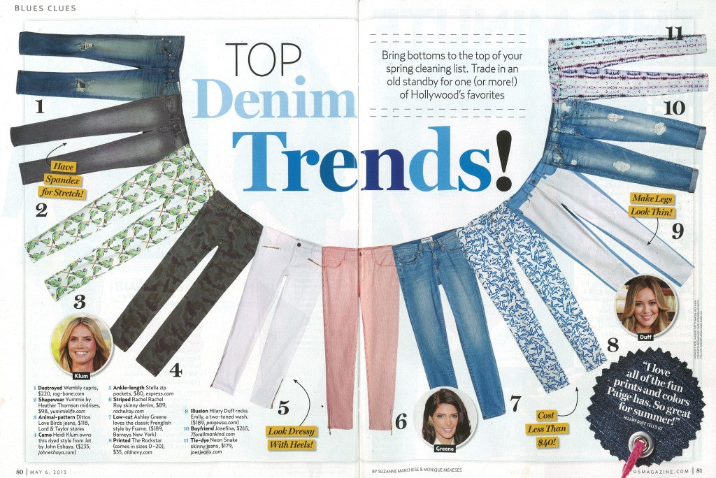 Yummie Tummie's shapewear jeans featured in US Weekly.