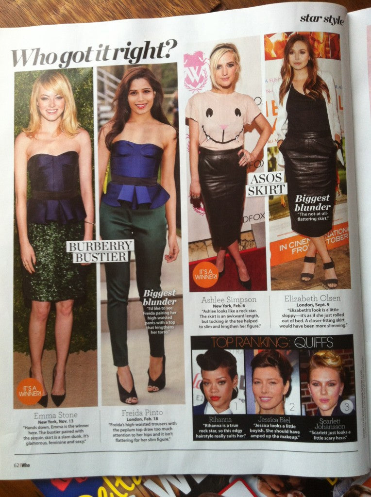 Yummie featured in Who Magazine.