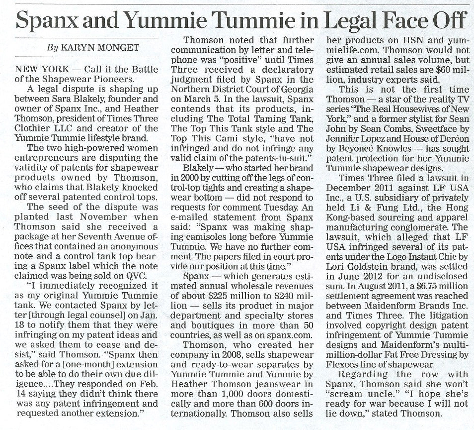 Yummie and Spanx discussed in WWD.