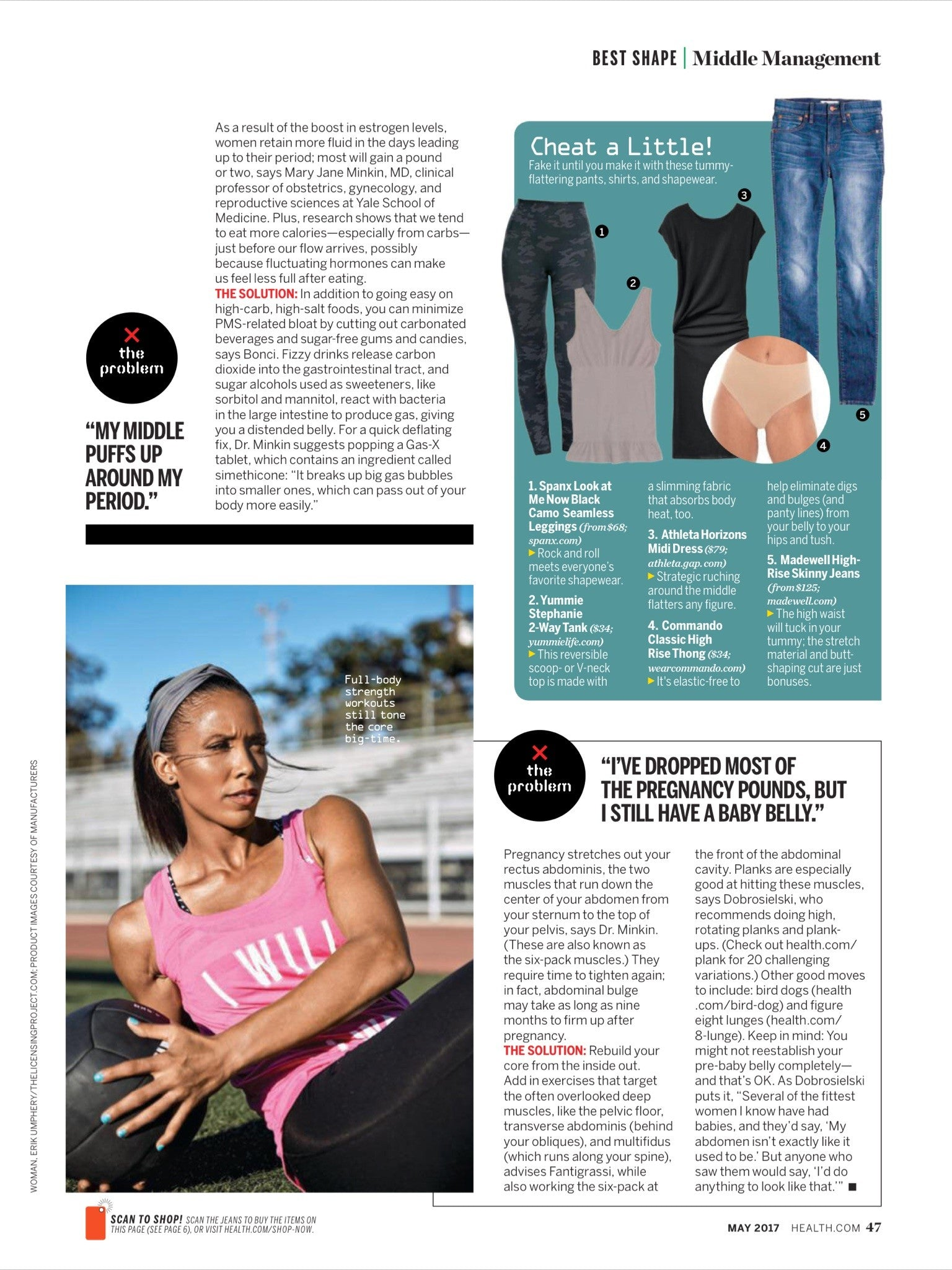 Tracy Anderson on the cover of Health Magazine.