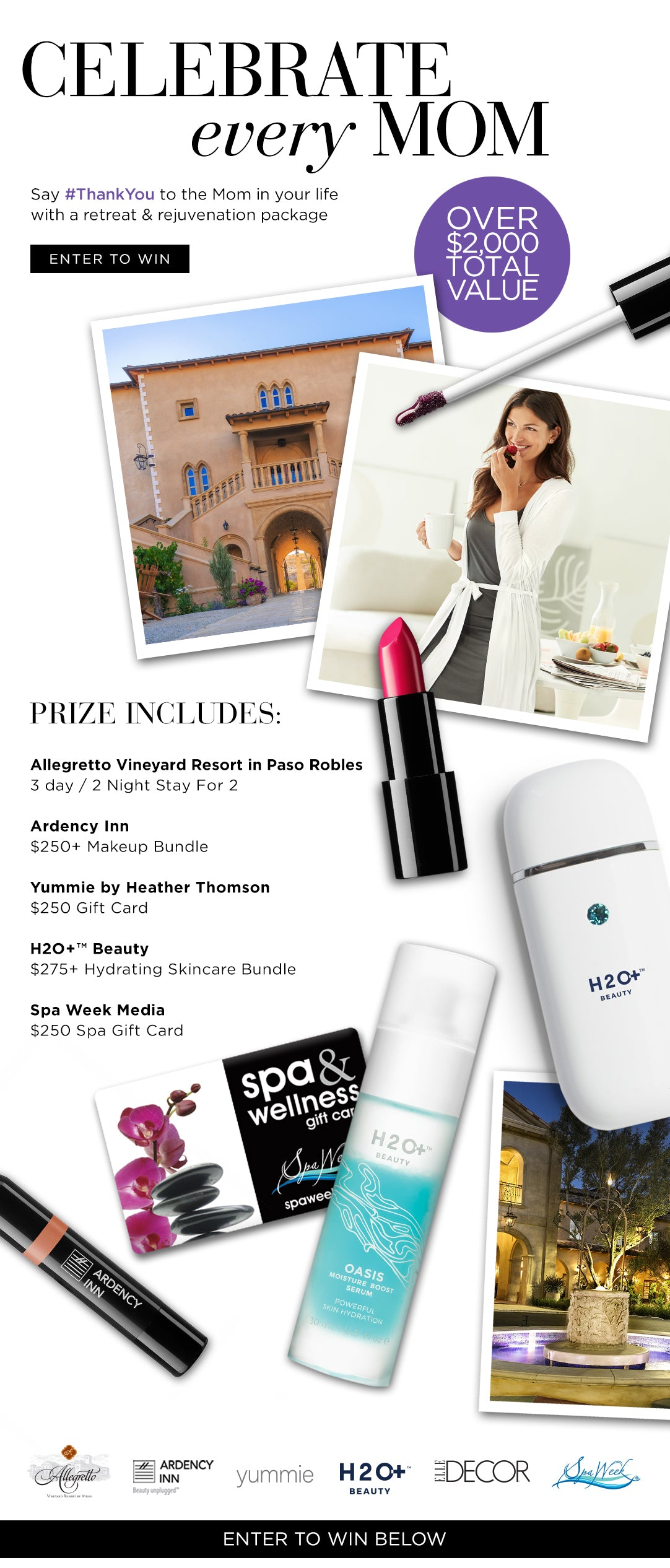Spa package giveaway for Mother's day