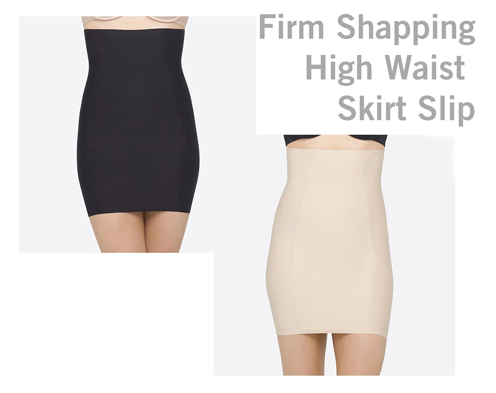 Yummie Firm Shaping High Waist Skirt Slip fits under any dress.