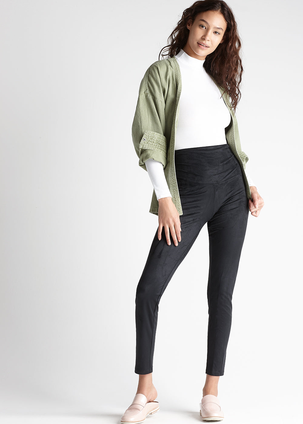 Faux Suede Shaping Legging