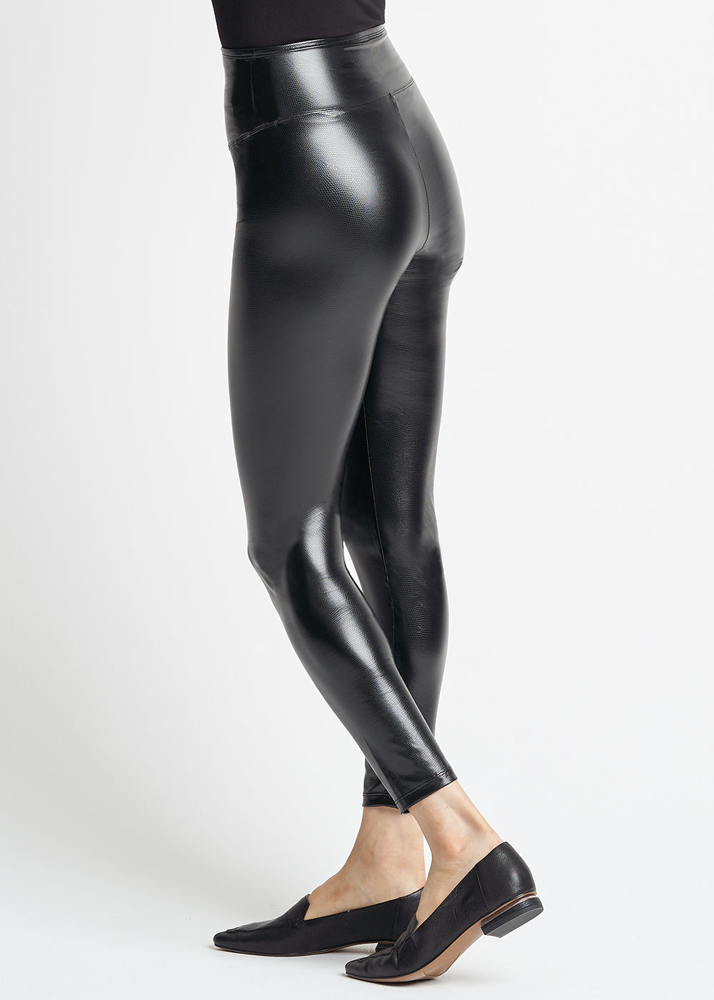 Yummie Pebbled Shine Faux Leather Shaping Legging