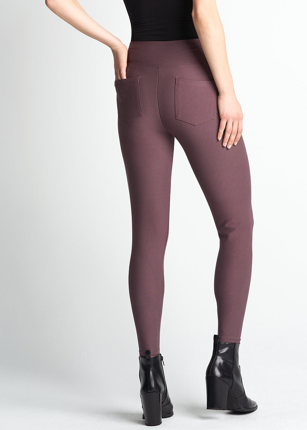 Yummie Stretch Twill Shaping Legging With Pockets