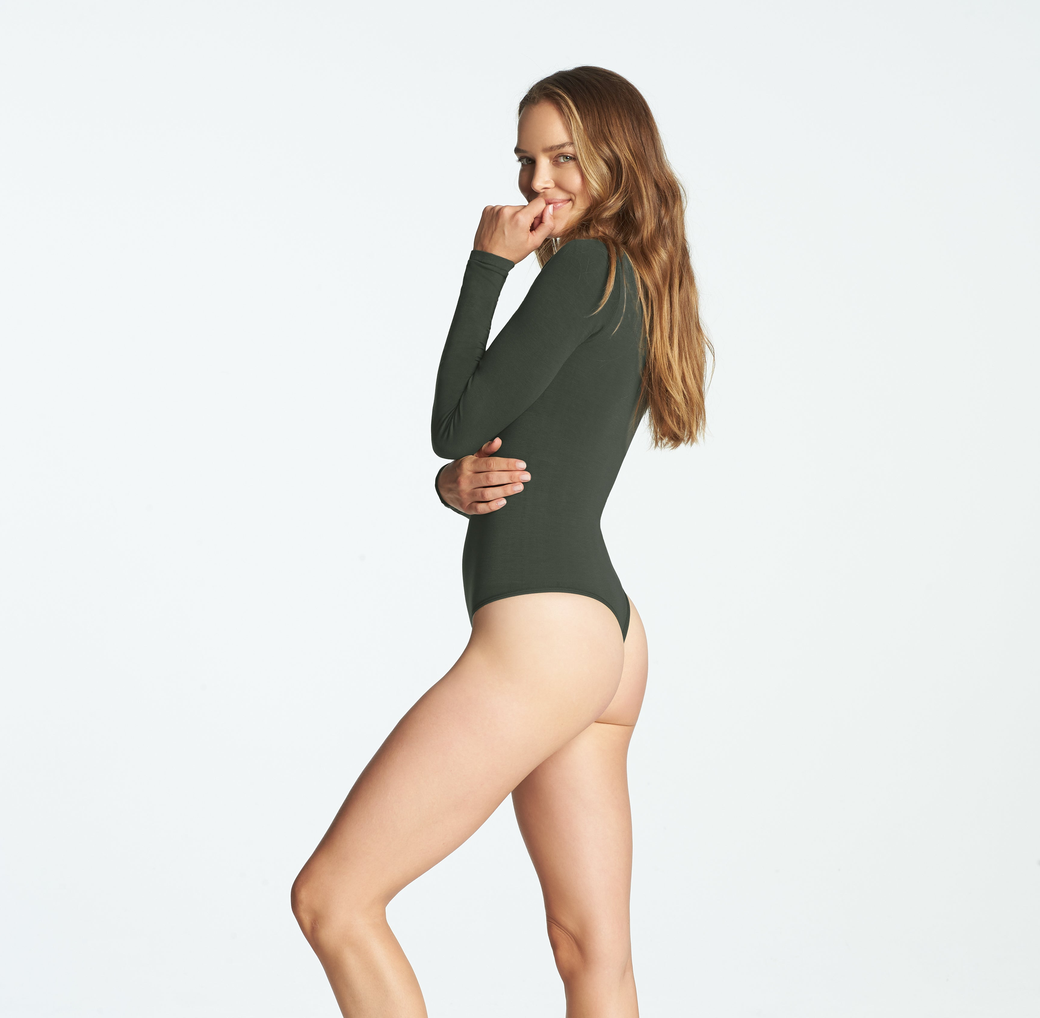 Size US L//XL Yummie FRAPPE Cotton Shaping Full Back Bodysuit