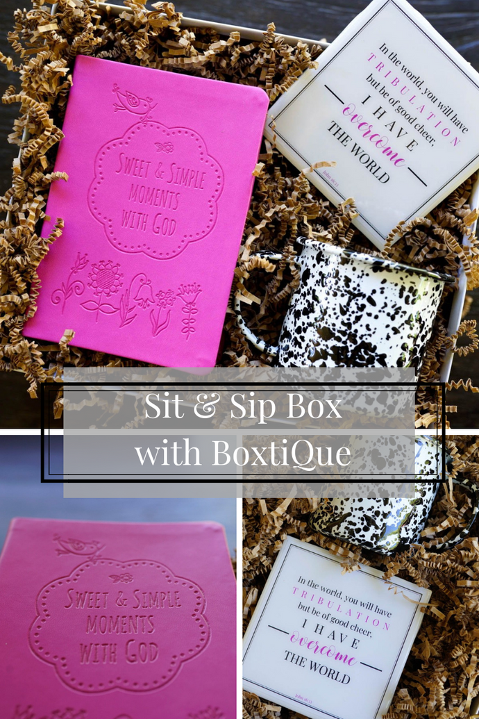 Sit & Sip Collaboration Box with BoxtiQue