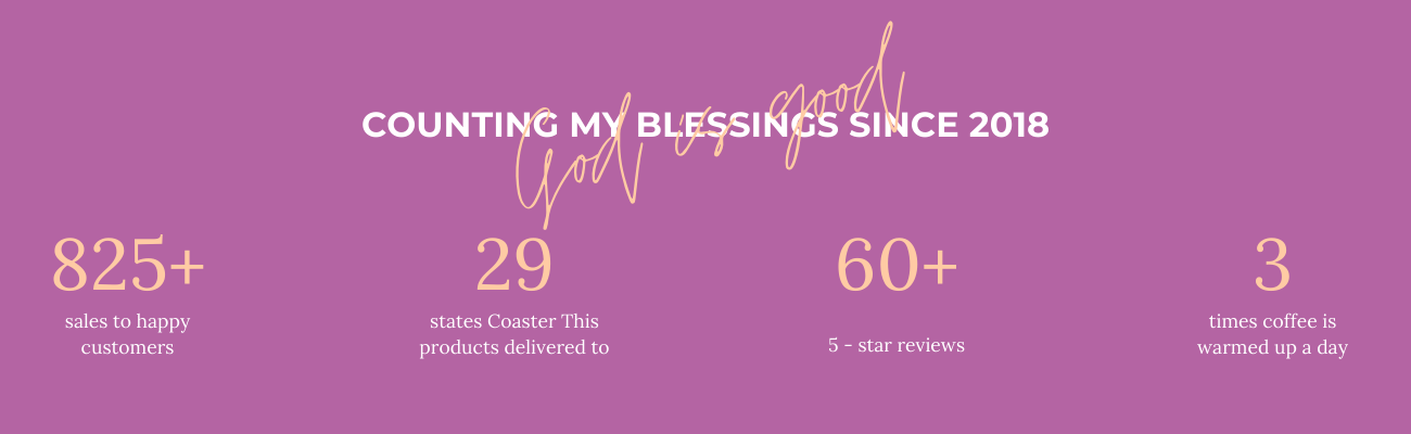 Coaster This Counting My Blessings Banner