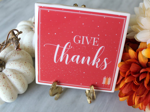 Give Thanks Fall Coaster