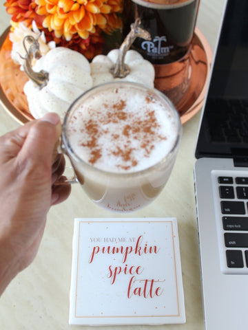 You Had Me at Pumpkin Spice Latte Fall Coaster