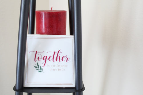 Together is Our Favorite Place to Be Coaster | Family/Home Collection - Coaster This