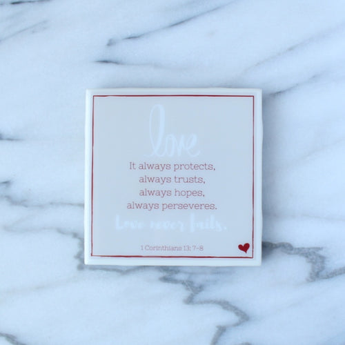 Love Never Fails Coaster | Love Collection
