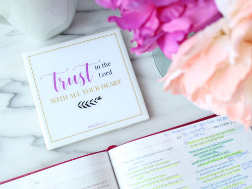Trust in the Lord Coaster | Indulge Collection - Coaster This