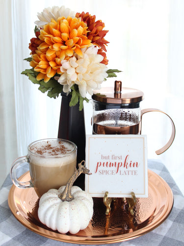 But First Pumpkin Spice Latte Coaster | Fall Collection - Coaster This