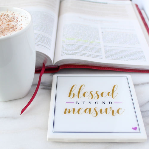 NEW Blessed Beyond Measure Coaster | Inspire Collection - Coaster This