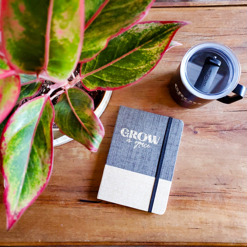Grow in Grace Journal & Pen Bundle - Coaster This